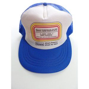 Vintage Sears Credit Card Snapback Mesh Trucker